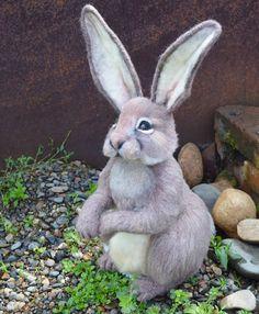 Felted bunny Felt Bunny, Needle Felting, Rabbit, Animals, Bunny, Rabbits, Animales, Animaux, Bunnies