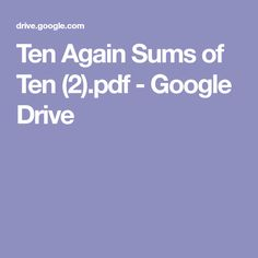Ten Again Sums of Ten (2).pdf - Google Drive