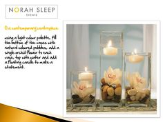 table centrepiece ideas using floating candles