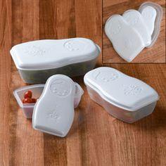 Matryoshka nesting storage containers $16