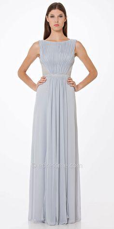 Draped Matte Jersey Evening Dress by JS Boutique