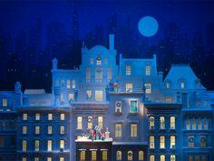 "Tiffany & Co. ""Snowy New York streets"" christmas window"