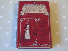c1900 Warne's Every Day Cookery Book by Mary Jewry - Antique Cookery Book - Victorian Cookery - Illustrated - Coloured Plates by Butterbeas on Etsy