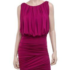 Short Sleeve Shirred Dress