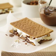 Banana Nutella Smores on the grill- Food And Wine Magazine Recipe    More Amazing Desserts   ...