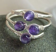 Amethyst ring wire wrap