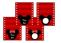 minnie mouse mickey mouse printable tented cards