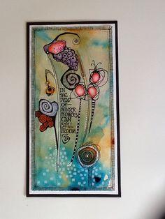 Deb Weiers - Flowers in Winter Doodle Art Journals, Art Journal Pages, Art Pages, Art Journaling, Watercolor Journal, Watercolor Art, Truck Art, Art Journal Techniques, Art For Art Sake