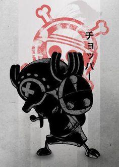 anime manga crimson japanese japan cute animal raindeer dear antlers chopper tony cuteness straw hats pirates pirate pet one piece op power fruit devil skull cross bones jolly roger black white red shadow fanfreak ink inking