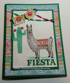 DH Slate Llama in Emerald by - Cards and Paper Crafts at Splitcoaststampers Birthday Cards For Women, Handmade Birthday Cards, Card Making Inspiration, Making Ideas, Llama Birthday, Cardmaking And Papercraft, Craft Night, Animal Cards, Llamas
