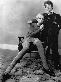 twiggy / knitted leggings / very college-y