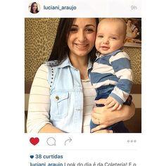 A charmosa advogada catarinense e mãe do Vitor @luciani_araujo, optou pelo #portorico para curtir o feriado em família! #coleteria | sempre♡ #coletâneamundo #portorico #jeans #tachas #colete #coletes #coletefeminino #vest www.coleteria.com.br♡