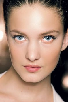 Flawless complexion and contouring at Giambattista Valli Spring 2012. Photo by Anthea Simms