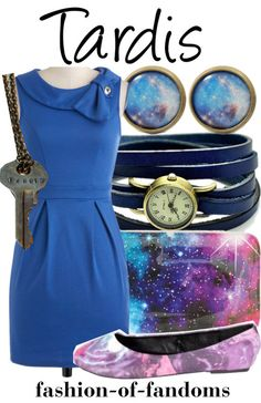 TARDIS inspired outfit @Shan @ Red Queen Miscellanea Moose one of us needs this outfit
