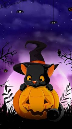 Search free halloween Wallpapers on Zedge and personalize your phone to suit you. Start your search now and free your phone Chat Halloween, Image Halloween, Halloween Drawings, Disney Halloween, Halloween Pictures, Spooky Halloween, Halloween Themes, Halloween Decorations, Halloween Halloween