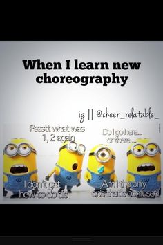 This is pretty much me every time....thankful for all those who helped me work through some choreography kinks XD