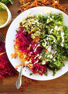 Vegan Bowl with Sauerkraut, Pistachios, and Jalapeño Garlic Tahini Sauce – The Kitchen Paper