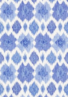 BIMINI IKAT, Blue and White, T5732, Collection Biscayne from Thibaut