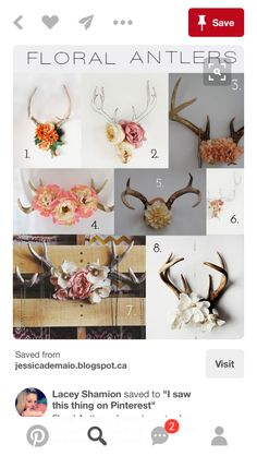 Antlers are woodland-inspired cool rustic pieces that bring coziness. Antlers make accessory holders and natural jewelry hangers. You can add some décor with diy decoration ideas using antler. Decoration Inspiration, Life Inspiration, Decor Ideas, Antler Art, Antler Crafts, Diy And Crafts, Arts And Crafts, Diy Home Decor, Room Decor