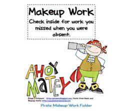 Classroom Freebies: Even Pirates Have Makeup Work! Teacher Freebies, Classroom Freebies, Classroom Themes, Pirate Day, Pirate Theme, Classroom Organization, Classroom Management, School Fun, School Stuff