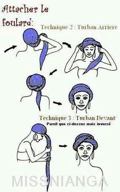 tie a turban - hair style Tie A Turban, Turban Style, Hair Wrap Scarf, Scarf Bun, Wimpy Kid Books, Baby Hut, Moda Hippie, African Head Wraps, Scarf Hairstyles