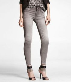 MIA EXTREME STRETCH ANKLE ZIP JEAN LEGGING at Express #ExpressHoliday