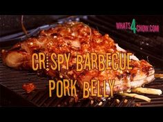 Crispy Barbecue Pork Belly. Pork Belly on the Barbecue. Crisp crackling ...