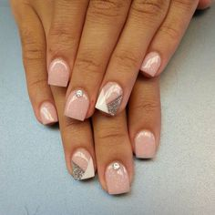 70 Cute Pink Nail Art Designs for Beginners - Easy Nail Designs Cute Pink Nails, Pink Nail Art, Fancy Nails, Love Nails, How To Do Nails, My Nails, Prom Nails, Wedding Nails, Fabulous Nails