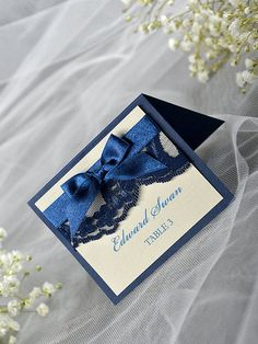 Navy Place Cards (20), Lace Place cards, Navy Wedding stationery, Tented Place Cards,  Lace Escort Card, Name Card, Burlap Place Cards
