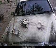 Car painting - Fahrzeuge - - New Ideas Air Brush Painting, Car Painting, Custom Paint Jobs, Custom Cars, Cool Car Paint Jobs, Weird Cars, Cool Cars, Car Memes, Funny Memes