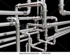 Illustration of a maze of industrial pipes by Paul Fleet, via Shutterstock