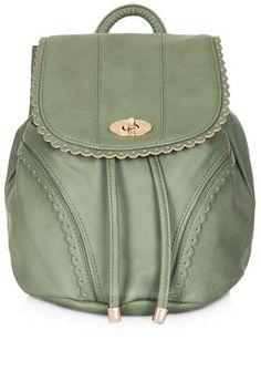 Mini Cutwork Trim Backpack