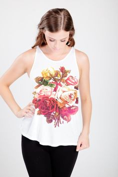 Granny Rose High Neck Flowy Tank from Royal Rabbit | Pretty Little Liars