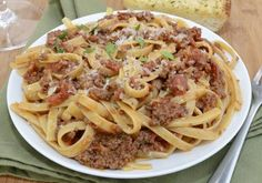 Rich and hearty pasta Bolognese slow simmered with pancetta and red wine. The ultimate comfort food! I hope everyone had a wonderful Valentine's Day yesterday. Andrew and I celebrated Valenti… Giada De Laurentiis, Entree Recipes, Pasta Recipes, Meal Recipes, Recipies, Greek Recipes, Italian Recipes, Italian Dishes, Bolognese