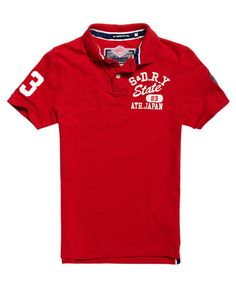 Superdry Super State Pique Polo Shirt Red