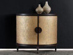 Hooker Furniture Melange Gold 40''W x 21''D Em Demilune Accent Chest Cabinet