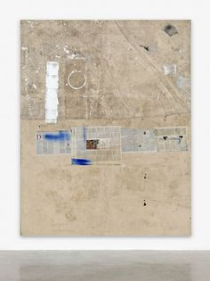 David Ostrowski, F (Life After Death), 2015, Painting - Acrylic, lacquer, paper, dirt and cotton on canvas, wood, 241 x 191 cm (94.88 x 75.2 in)