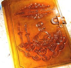 Recipe Leather Book Cook Book Leather Journal by TiVergy on Etsy