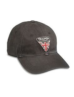 Classic baseball cap crafted from 100% cotton and finished with a  vintage-inspired Triumph f2ce7caa9077