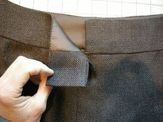 Couture waistband tutorial   by sewingkay on Flickr