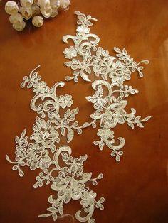 lace headpiece wedding applique ivory lace by WeddingbySophie, $6.90