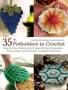 In this collection, you will find vintage inspired potholders; double-layered potholders for added protection; and fun, bold, brightly colored potholders that will be a great addition to any kitchen.    Click here to order this book: http://www.maggiescrochet.com/products/35-potholders-to-crochet