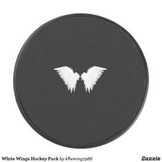 Shop White Wings Hockey Puck created by Personalize it with photos & text or purchase as is! Hockey Gear, Hockey Puck, White Wings