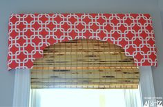 Cornice box how-to.  I need this shape in living room for arched windows, to hide the blinds up over them!