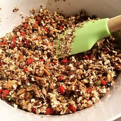 Sabrina's Homemade Granola with almonds, walnuts, goji berries and more DELICIOUS stuff