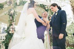 Handfasting ceremony. Love this wedding!  Read More: http://www.stylemepretty.com/little-black-book-blog/2014/04/04/whimsical-elegant-tea-party-wedding/