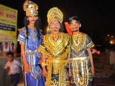 kids dressed as Ravan and his brothers, for Dussehra Dussehra Celebration, Festivals Of India, New Delhi, Space, Celebrities, Kids, Beauty, Dresses, Display