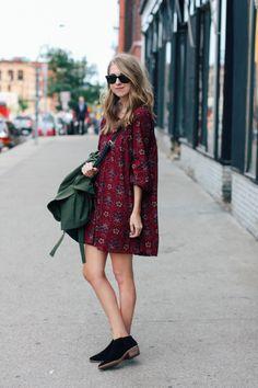 summer dress, autumn colors