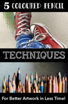 Here are my 5 top techniques for getting started right with coloured pencils: resources. I like to keep things ultra simple and focus on the techniques that make the biggest difference in the shortest possible time. Colored Pencil Tutorial, Colored Pencil Techniques, Colouring Techniques, Drawing Techniques, Drawing Tips, Watercolor Pencils Techniques, Drawing Art, Drawing Ideas, Watercolor Pencil Art