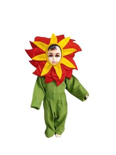 Fancy Dress Online, Dresses Online, Flower Costume, Yellow Flowers, Costumes, Red, Fictional Characters, Dress Up Clothes, Fantasy Characters